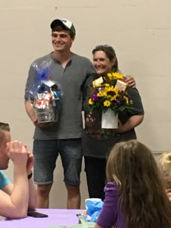 """Jordan and Tammie received special """"Thank Yous"""" for all of their hard work!"""